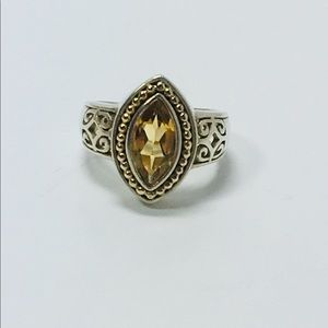 Jewelry - 925 and 14k citron ring